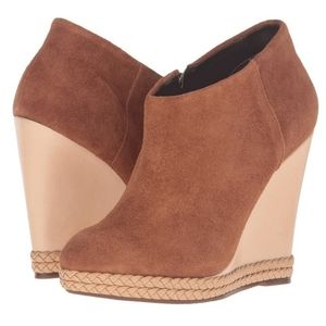 SCHUTZ SUEDE WEDGE BOOTIES